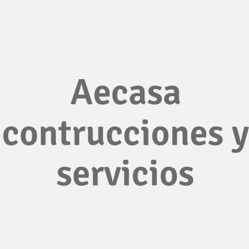 Aecasa Contrucciones Y Servicios