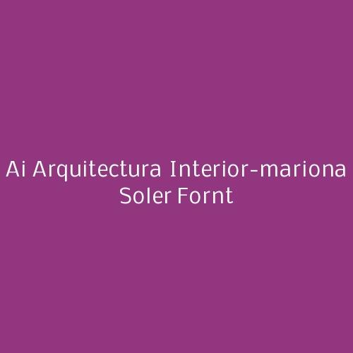 Ai Arquitectura Interior-mariona Soler Fornt