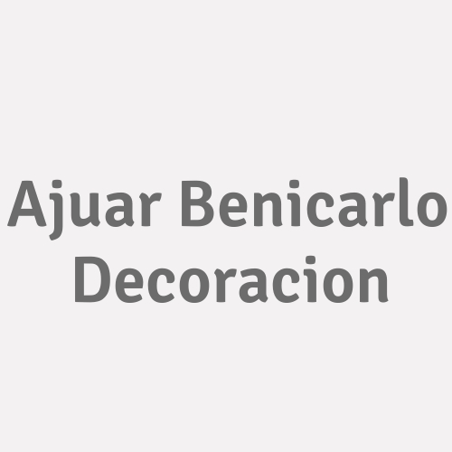 Ajuar Benicarlo Decoracion