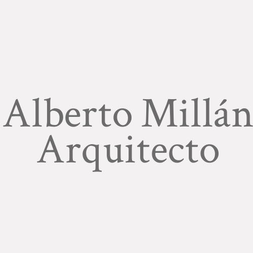 Alberto Millán Arquitecto