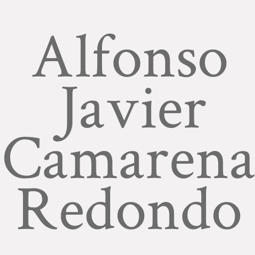 Alfonso Javier Camarena Redondo