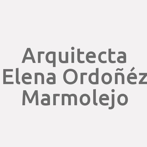 Arquitecta Elena Ordoñéz Marmolejo