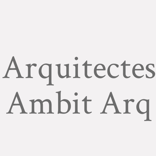 Arquitectes Ambit Arq