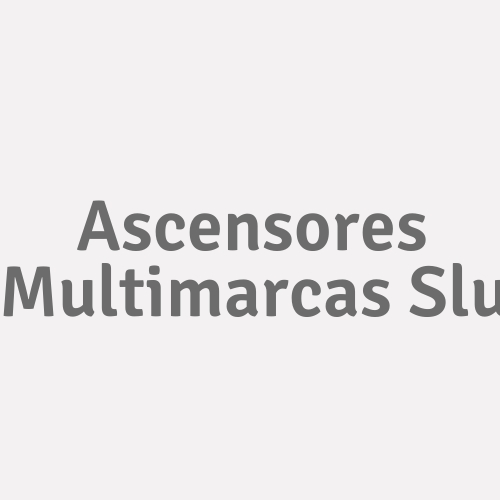Ascensores Multimarcas S.l.u.