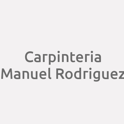 Carpinteria Manuel Rodriguez