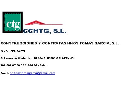 Construcciones Hnos Tomas Garcia S.l