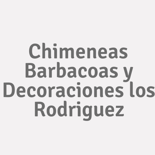 Chimeneas Barbacoas Y Decoraciones Los Rodriguez