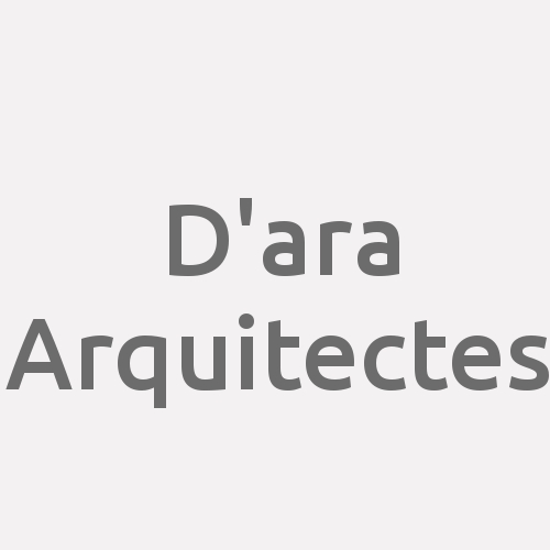 D'ara Arquitectes