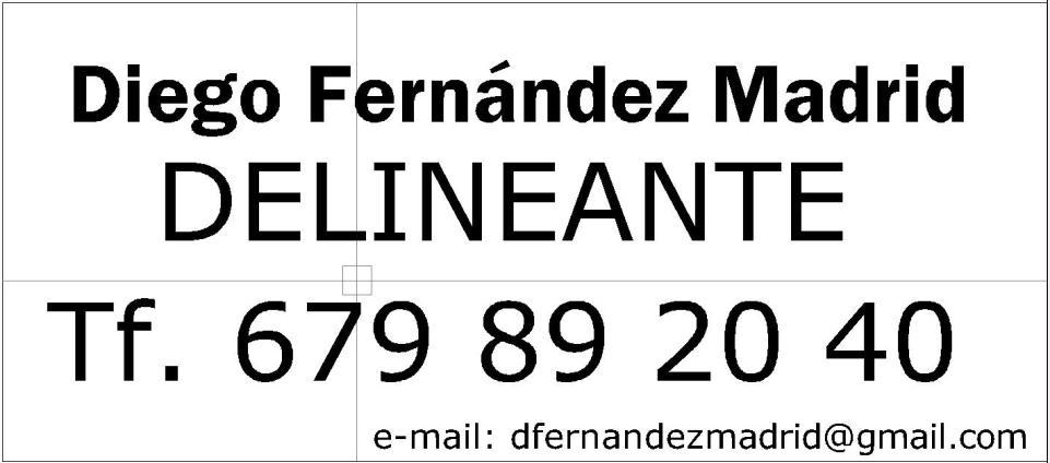 Delineante Topógrafo, Diego Fernández Madrid