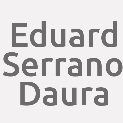 Eduard Serrano Daura