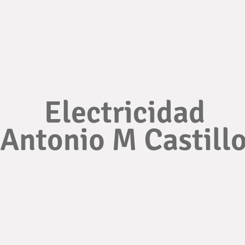 Electricidad Antonio M Castillo