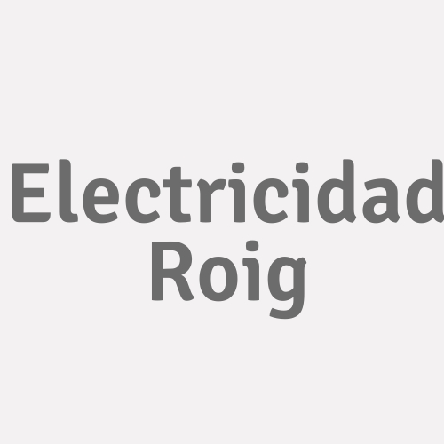 Electricidad Roig