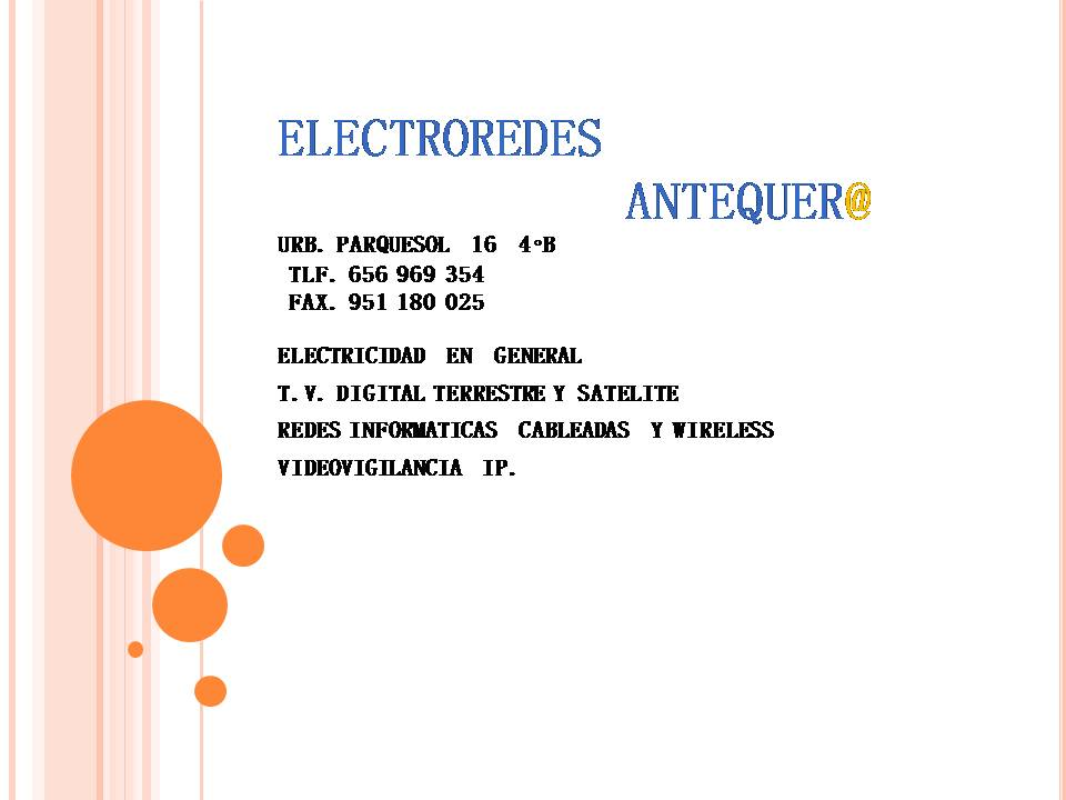 Electroredes  Antequer@