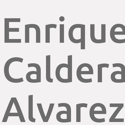 Enrique Caldera Alvarez
