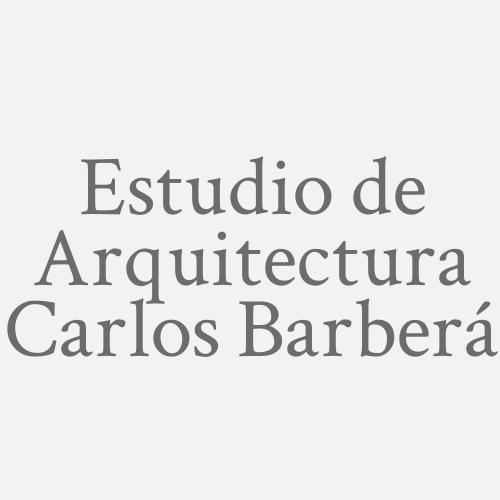 Estudio De Arquitectura Carlos Barberá