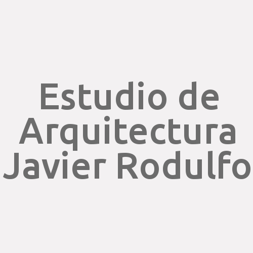 Estudio De Arquitectura Javier Rodulfo