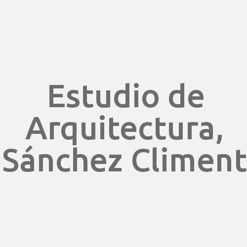 Estudio De Arquitectura, Sánchez Climent