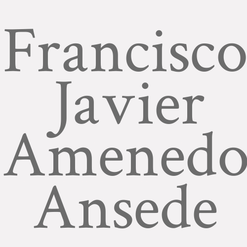 Francisco Javier Amenedo Ansede