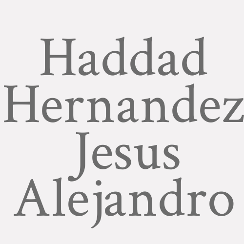 Haddad Hernandez Jesus Alejandro