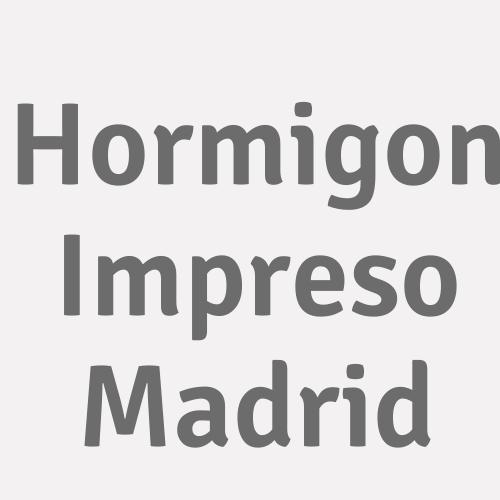 Hormigon Impreso Madrid