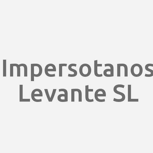 Impersotanos Levante SL