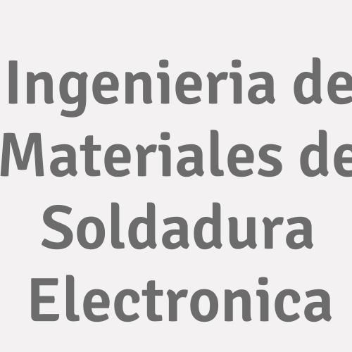 Ingenieria de Materiales de Soldadura Electronica