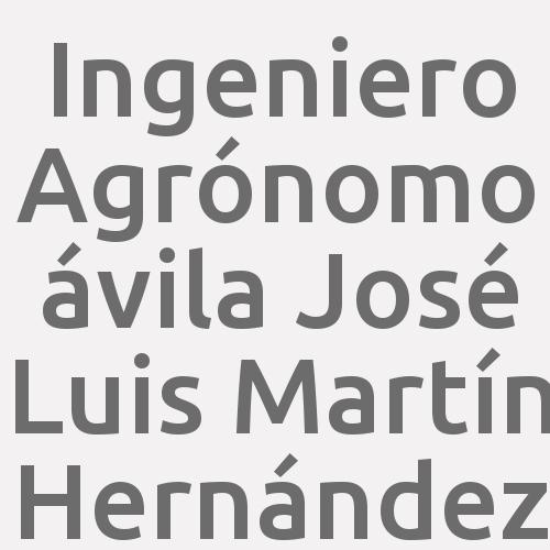 Ingeniero Agrónomo ávila José Luis Martín Hernández
