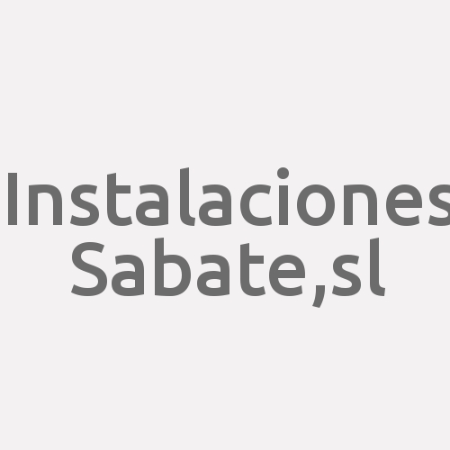Instalaciones Sabate,s.l