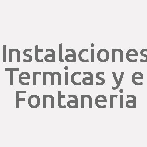 Instalaciones Termicas Y E Fontaneria