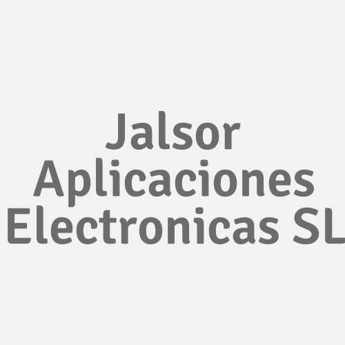 Jalsor Aplicaciones Electronicas Sl