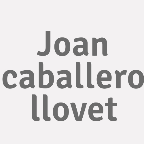 Joan Caballero Llovet