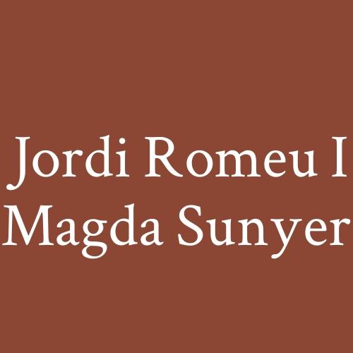 Jordi Romeu I Magda Sunyer