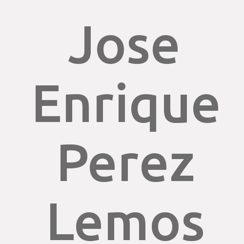 Jose Enrique Perez Lemos