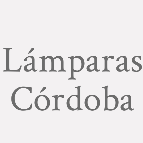 Lámparas Córdoba