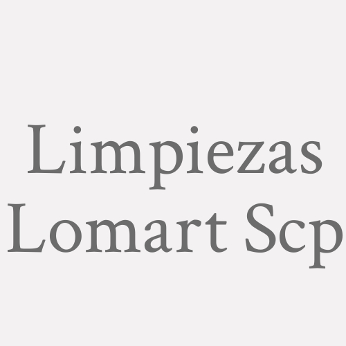 Limpiezas Lomart Scp