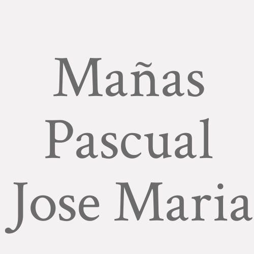 Mañas Pascual  Jose Maria