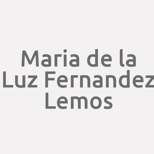 Maria de la Luz Fernandez Lemos