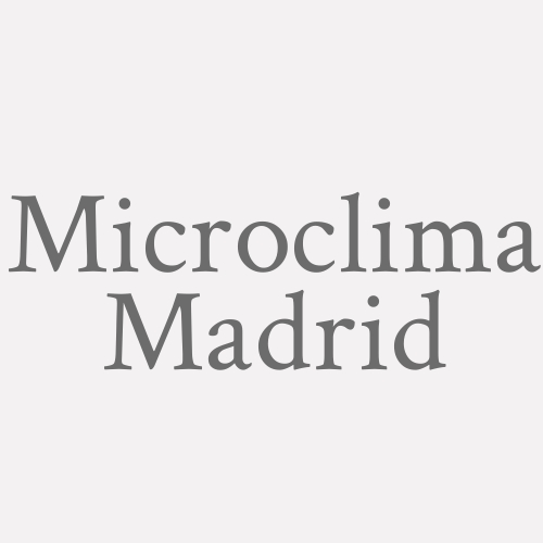 Microclima Madrid