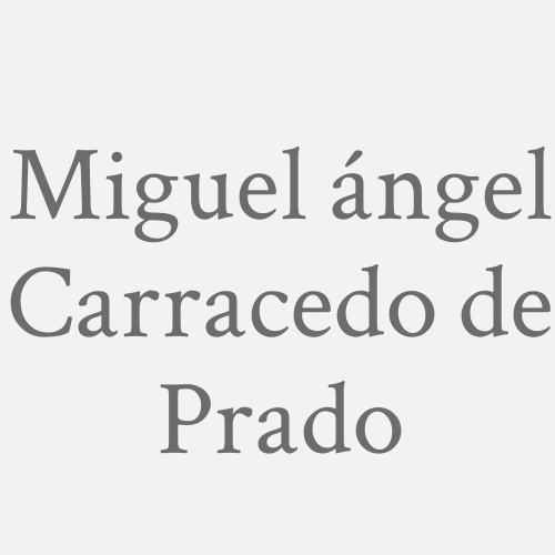Miguel ángel Carracedo De Prado