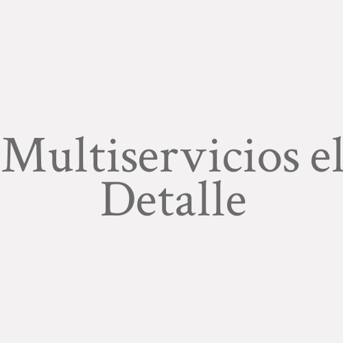 Multiservicios El Detalle