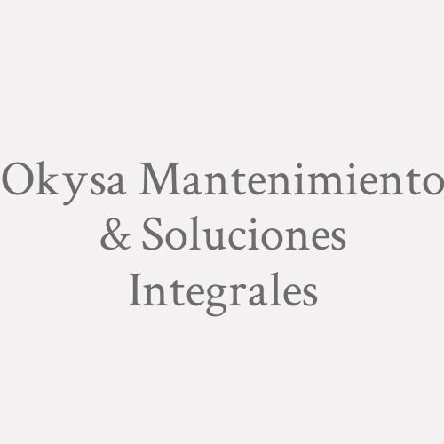 Okysa Mantenimiento & Soluciones Integrales