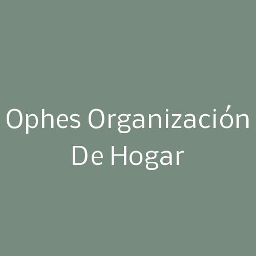 Ophes Organización De Hogar
