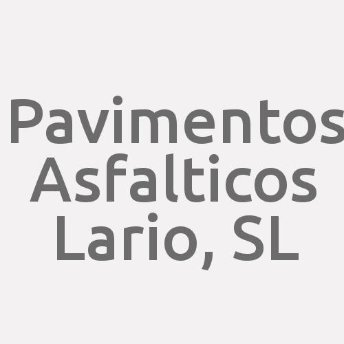 Pavimentos Asfalticos Lario, S.L.