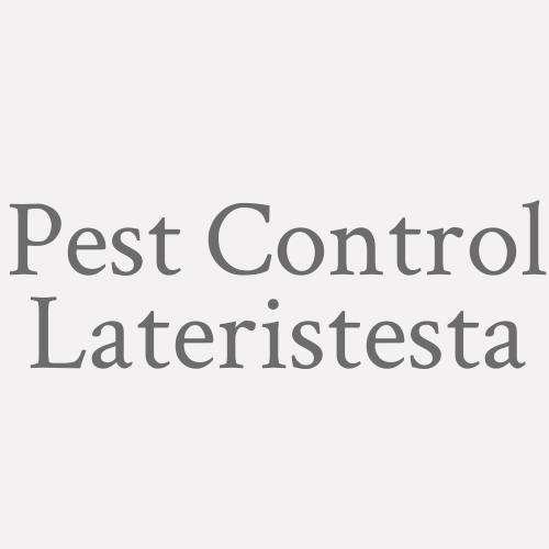 Pest Control Lateristesta
