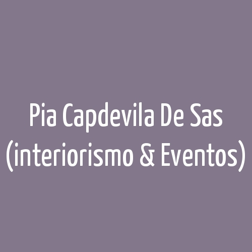 Pia Capdevila De Sas (interiorismo & Eventos)