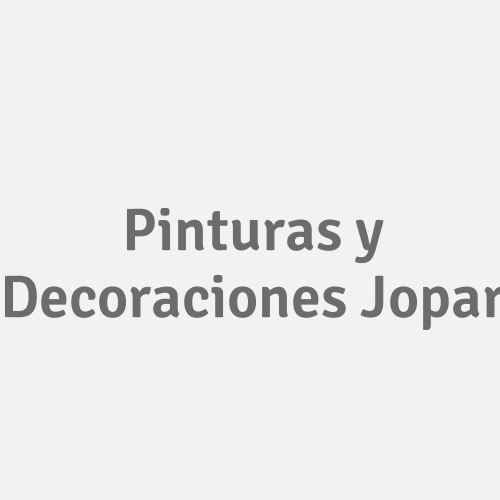 Pinturas Y Decoraciones Jopar