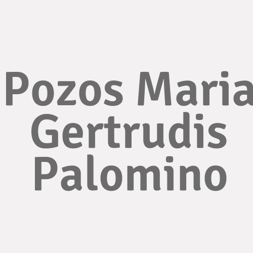 Pozos Maria Gertrudis Palomino