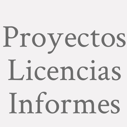 Proyectos  Licencias Informes