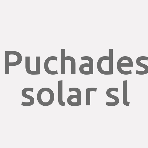 Puchades Solar S.l