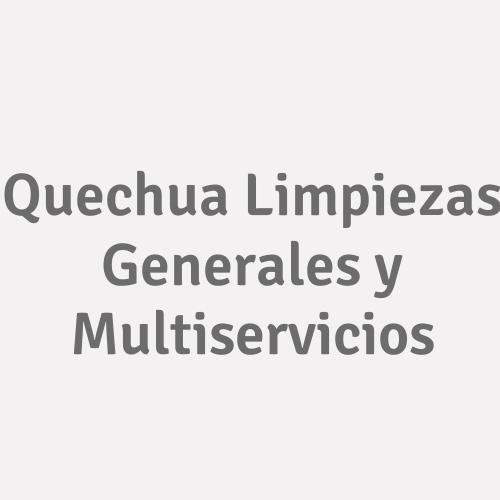 Quechua Limpiezas Generales Y Multiservicios